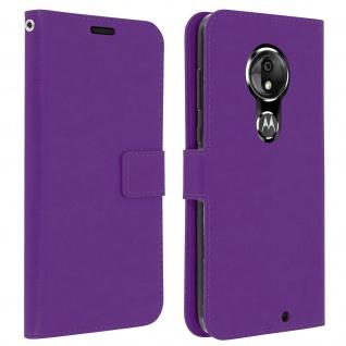 Flip Stand Cover Brieftasche & Standfunktion für Moto G7, Moto G7 Plus - Violett