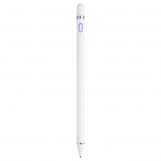 Smartphone/Tablet/PC Touchscreen-Stift, feine Spitze, Aluminium ? Weiß