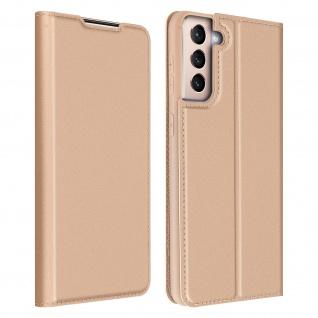 Klappetui mit Kartenfach & Standfunktion Samsung Galaxy S21 ? Rosegold