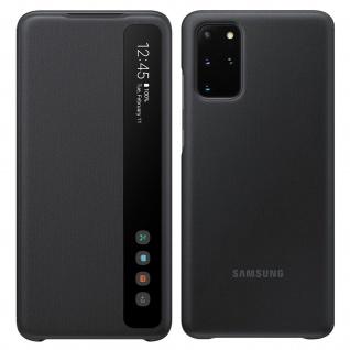 Original Samsung Clear View Cover, Klapphülle für Galaxy S20 Plus - Schwarz