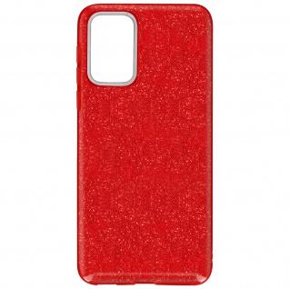 Schutzhülle, Glitter Case für Samsung Galaxy A52 / A52 5G â€? Rot