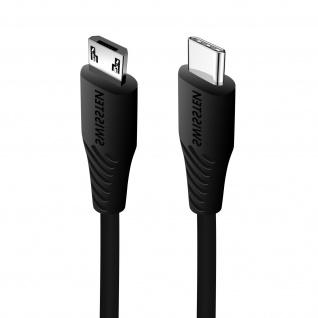 USB-C / Micro-USB Schnellladekabel, 3A Ladekabel by Swissten � Schwarz