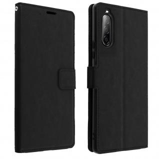 Flip Stand Case Brieftasche & Standfunktion für Sony Xperia 10 II ? Schwarz