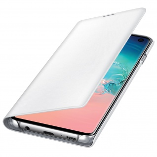 Original Samsung LED-View Cover + Kartenfach Samsung Galaxy S10 - Weiß