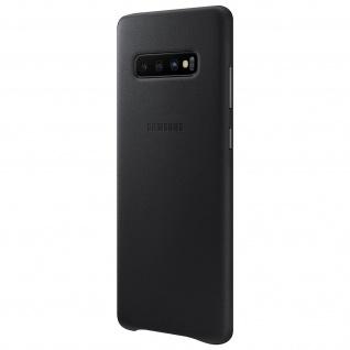 Original Samsung Leather Cover, Lederhülle für Samsung Galaxy S10 Plus - Schwarz
