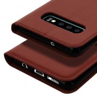 Flip Stand Cover Brieftasche & Standfunktion für Samsung Galaxy S10 Plus - Braun - Vorschau 5