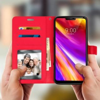 Flip Cover Stand Case Brieftasche & Standfunktion für LG G7 ThinQ - Rot - Vorschau 2
