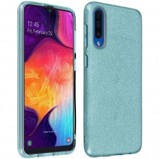 Schutzhülle, Glitter Case für Samsung Galaxy A70, shiny & girly Hülle - Blau