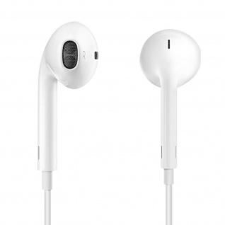 Verwicklungsfreie in-ear Kopfhörer Fernbedienung 3.5mm Klinkenstecker - Weiß