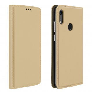 Huawei Y6 2019/Y6S und Honor 8A/8A 2020 Flip Cover mit Standfunktion ? Gold