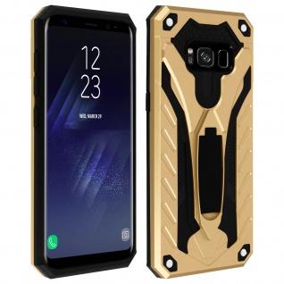 Samsung Galaxy S8 Plus Hybrid stoßfeste Schutzhülle mit Ständer - Gold