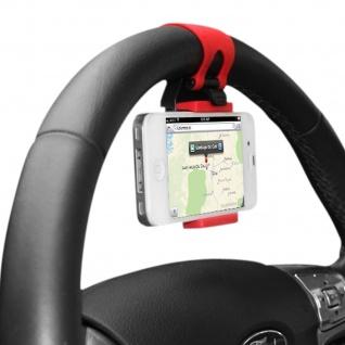 Lenkrad-Halterung KFZ-Halterung für Smartphones - Schwarz / Rot