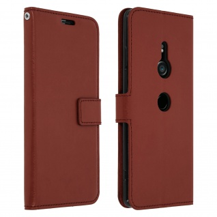 Flip Stand Cover Brieftasche & Standfunktion Sony Xperia XZ3 - Braun 1