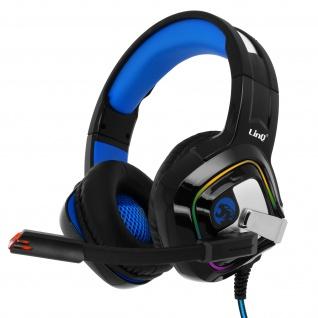 3.5mm kabelgebundenes Gamer-Headset mit Mikrofon, RGB-Licht, LinQ - Schwarz