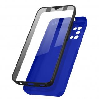 Schutzhülle für Samsung Galaxy A02s / A03s, Vorder- + Rückseite ? Blau
