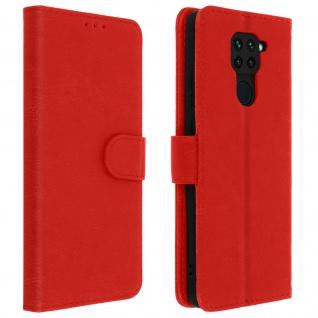 Flip Cover Geldbörse, Klappetui Kunstleder für Xiaomi Redmi Note 9 ? Rot
