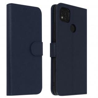 Flip Cover Geldbörse, Klappetui Kunstleder für Xiaomi Redmi 9C ? Blau