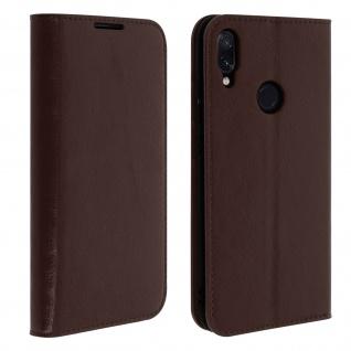 Business Leder Cover, Schutzhülle mit Geldbörse für Xiaomi Redmi Note 7 - Braun