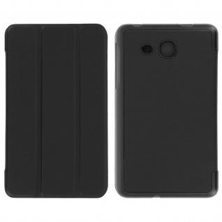 Dünne Flip-Schutzhülle für Galaxy Tab A 2016 7.0 - Mit Standfunktion - Schwarz