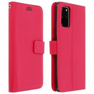 Samsung Galaxy S20 Plus Flip-Cover mit Kartenfächern & Standfunktion - Rosa