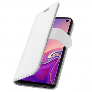 Flip Stand Cover Brieftasche & Standfunktion für Samsung Galaxy S10 - Weiß - Vorschau 2
