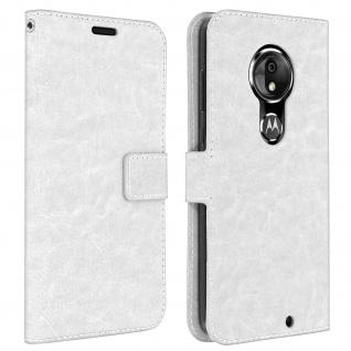 Flip Stand Cover Brieftasche & Standfunktion für Moto G7, Moto G7 Plus - Weiß