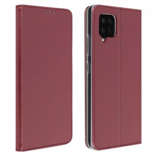 Wallet Cover für Samsung Galaxy A42 5G, Kartenfach und Ständer ? Weinrot