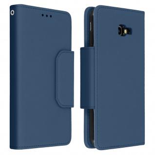 Soft Touch Klappetui mit abnehmbarer Hülle Galaxy J4 Plus, Geldbörse ? Blau