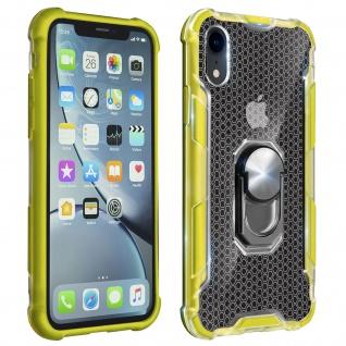 Hybrid Handyhülle mit Ring Halterung für Apple iPhone XR - Gelb