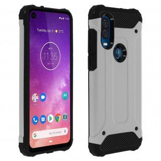 Defender II schockresistente Schutzhülle Motorola One Vision - Grau
