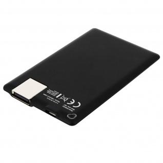 4Smarts VoltHub CreditCard universal 1280 mAh 5V/1A kompakte schwarze Powerbank