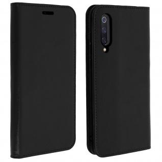 Business Leder Cover, Schutzhülle mit Geldbörse für Xiaomi Mi 9 - Schwarz