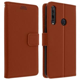Huawei Y6p Flip-Cover mit Kartenfächern & Standfunktion - Braun