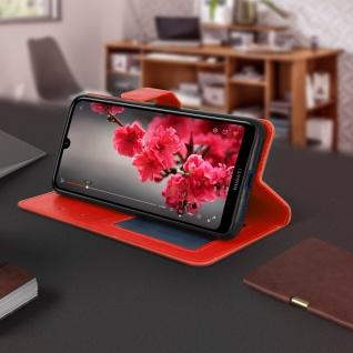 Flip Stand Cover Brieftasche & Standfunktion für Huawei Y7 2019 - Rot - Vorschau 4