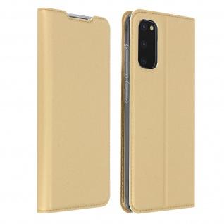 Klappetui mit Kartenfach & Standfunktion Samsung Galaxy S20 - Gold