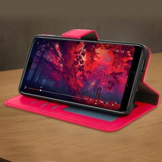 Flip Cover Stand Case Brieftasche & Standfunktion für Huawei P20 - Rosa - Vorschau 3