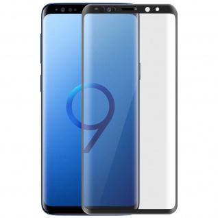 5D Full Cover Displayschutzfolie aus Glas Samsung Galaxy S9 Plus - Rand Schwarz