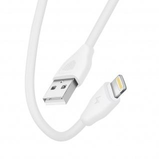 USB / Lightning 2.1A Schnelllade- und Synchronisationskabel 20cm CK21 Inkax Weiß
