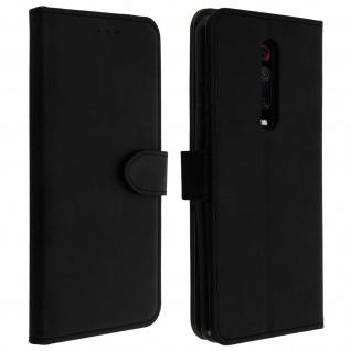 Buffalo Kunstlederetui Xiaomi Mi 9T, Standfunktion & Kartenfächer - Schwarz