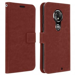 Flip Stand Cover Brieftasche & Standfunktion für Moto G7, Moto G7 Plus - Braun