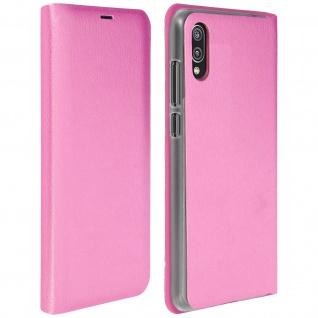 Flip Book Cover, Schutzhülle mit Geldbörse für Huawei P20 - Rosa