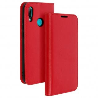 Business Leder Cover, Schutzhülle mit Geldbörse für Huawei P Smart 2019 - Rot - Vorschau 2
