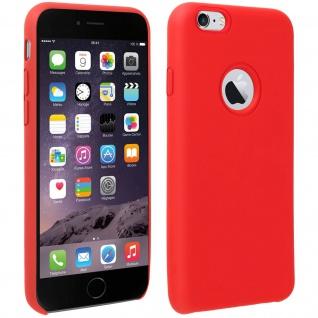 Halbsteife Silikon Handyhülle iPhone 6/6S, Soft Touch - Rot