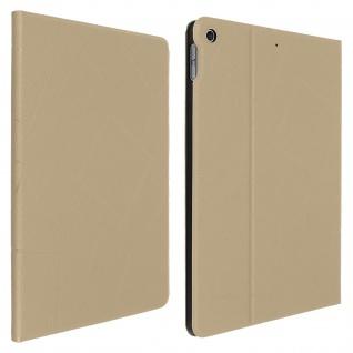 Apple iPad 2020 / 2019 10.2 Rundum Hülle mit Quadrat Muster ? Gold