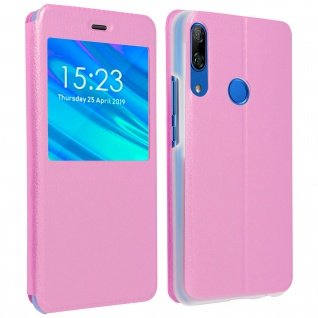 S-View Cover Sichtfenster für Huawei P Smart Z/Y9 Prime 2019, Honor 9X - Rosa