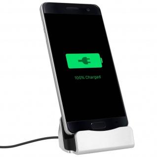 Smartphone Ladestation Aufladen & Synchronisierung Micro-USB Anschluss - Silber