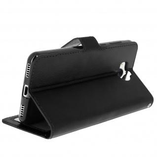 Flip-Cover Stand Case Brieftasche & Standfunktion für Huawei Y6 2017 - Schwarz - Vorschau 5