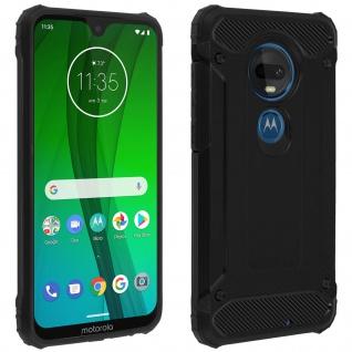 Defender II schockresistente Schutzhülle Motorola Moto G7 / G7 Plus - Schwarz