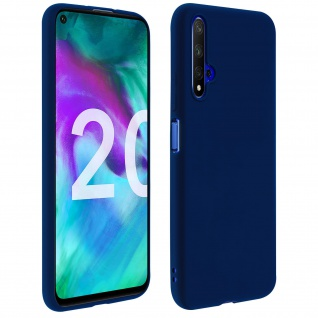 Honor 20 / Huawei Nova 5T Soft Touch Silikonhülle, soft case ? Dunkelblau