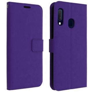 Flip Cover Stand Case Brieftasche & Standfunktion Samsung Galaxy A20e - Violett